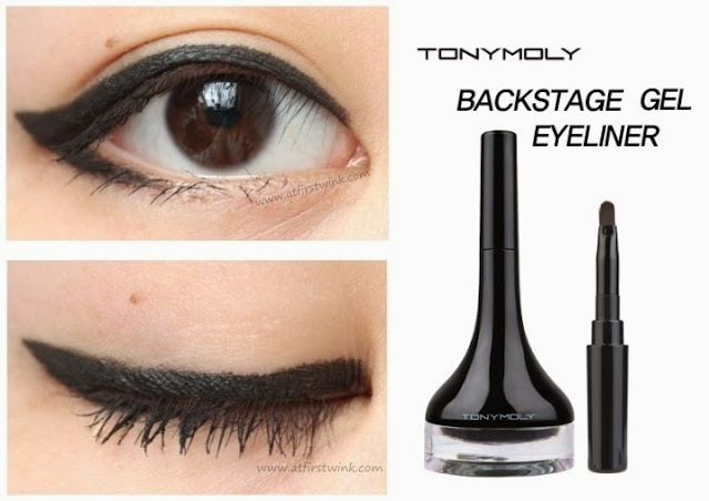Tony Moly Backstage gel eyeliner - Black eye swatches