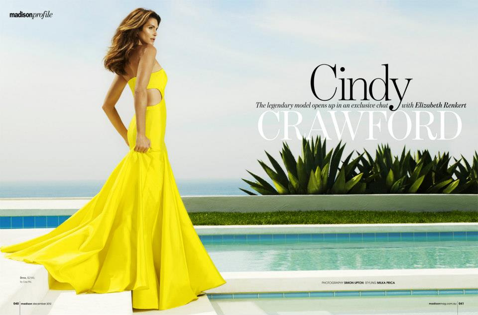 Cindy Crawford by Simon Upton for Madison December 2012