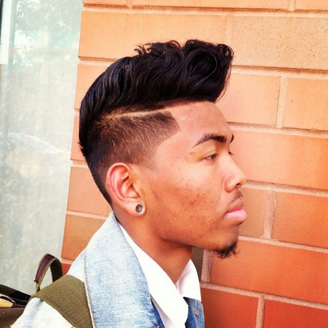 Pompadour hairstyle black men