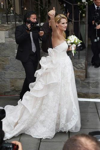 wedding dress, A dream in white: Michelle Hunziker