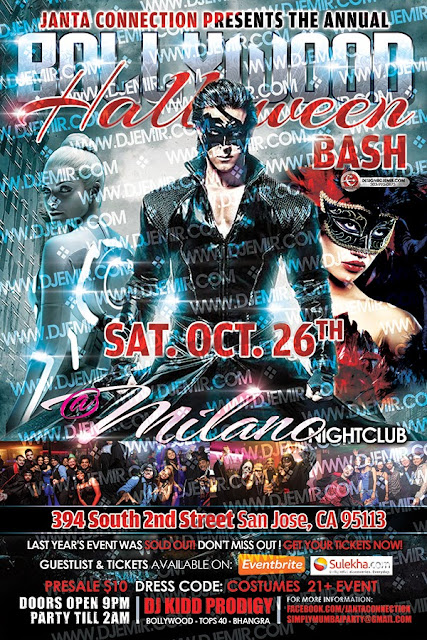 Janta Connection Simply Mumbai Bollywood Halloween Bash Flyer Design