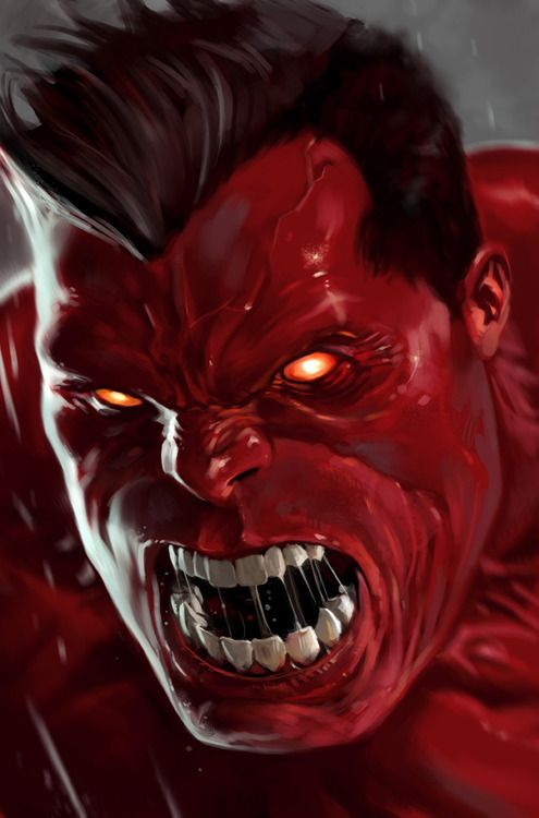 Red Hulk Marvel Comics Fictional Character, Angry
