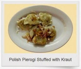 polish pierogi stuffed with sauerkraut