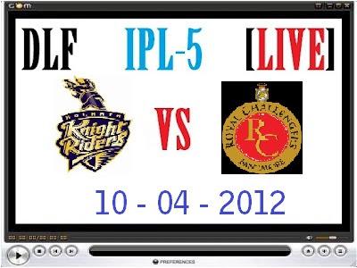 RCB v KKR Live