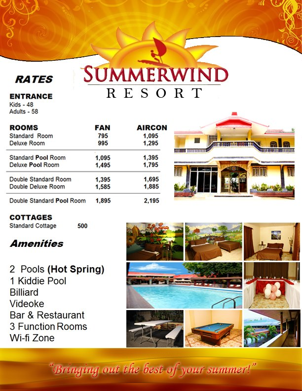 Summerwind Hot Spring Resort in Pansol, Calamba, Laguna