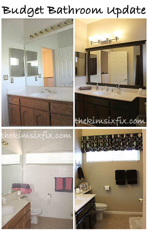 GuestKid Bathroom Makeover Flashback Friday The Kim Six Fix - Bathroom updates on a budget