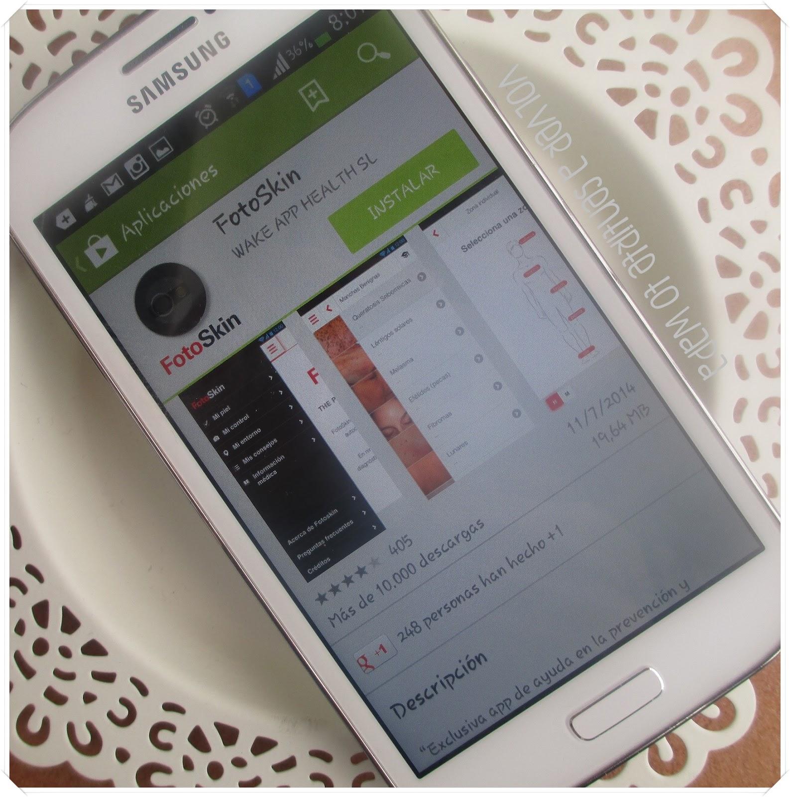 Fotoskin - app para la prevención y diagnóstico de cáncer de piel