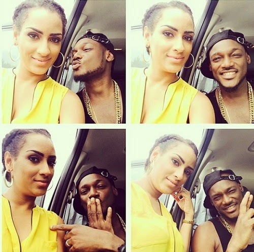 Between 2face Idibia and Juliet Ibrahim In Dallas – Photos