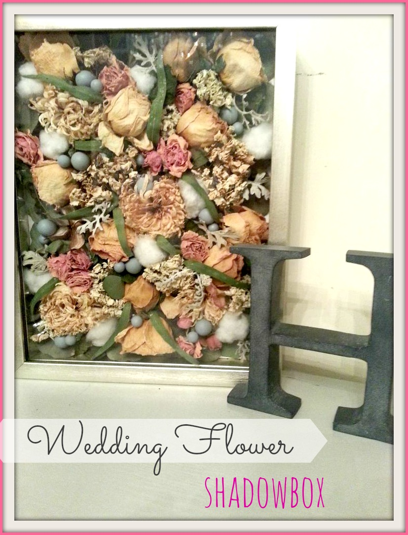 Bluegrass Pearls: {DIY} Wedding Flower Shadowbox