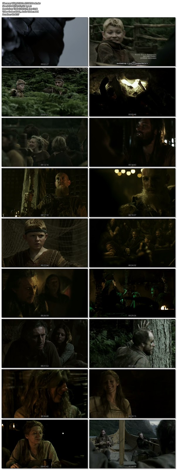 Screenshots Of Hindi Dubbed Show Vikings 2013 Season 01 Episode 01 300MB 720P HD