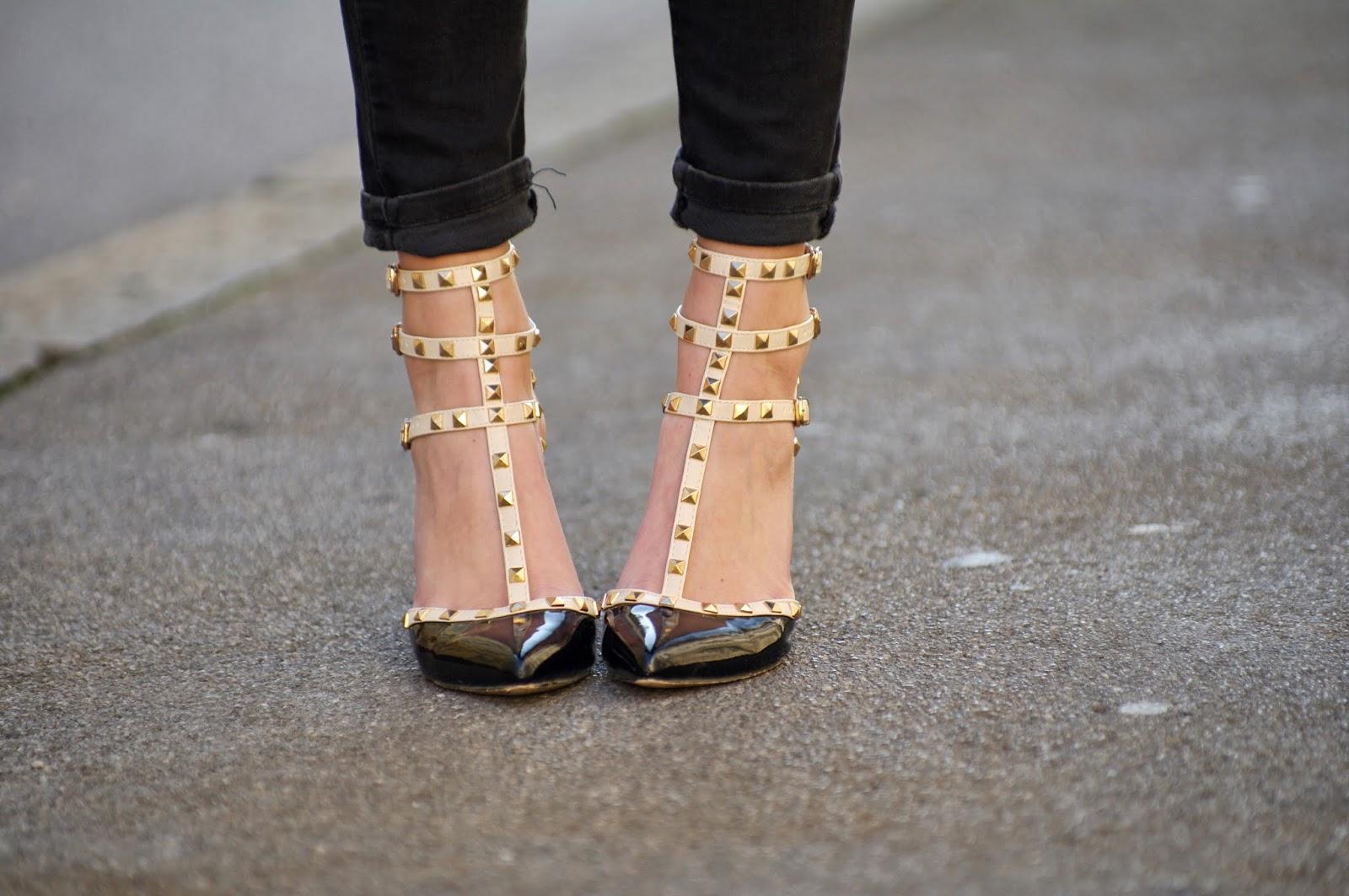 valentino rockstud lookalikes replica ebay, style blogger, fashion blog blogger, slovenski blogerji, modni blog