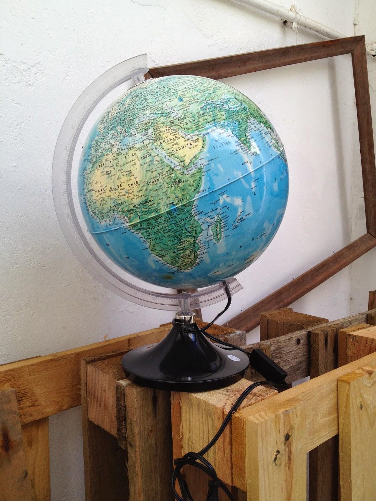 vintage, globo, candeeiro,globo terrestre, decoração vintage