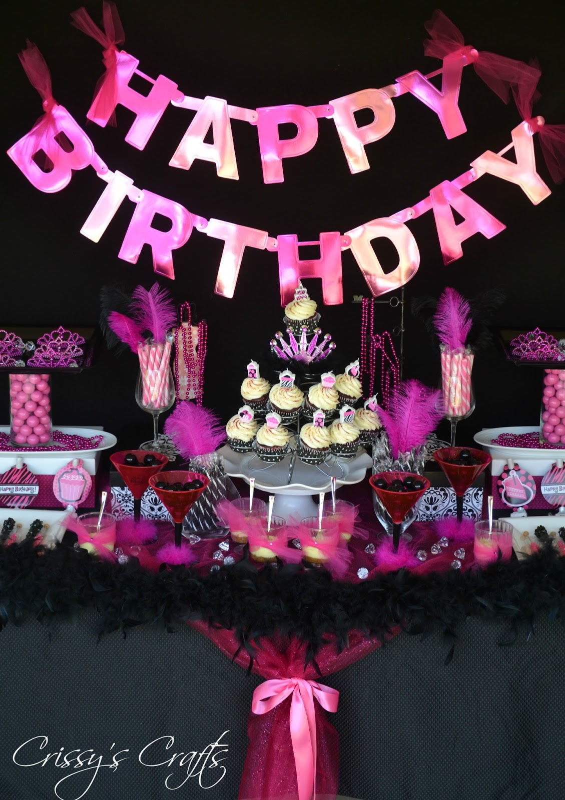 Crissy s crafts glam pink and black another year of