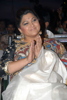 0004 Kushboo Latest Pictures in Saree   at Vetadu Ventadu Audio Release Function