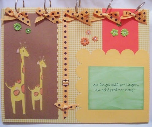 Armar cuaderno para guardar poemas del baby shower