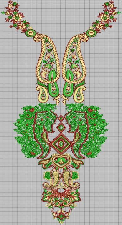 Necklines for salwar kameez ladies dress embroidery