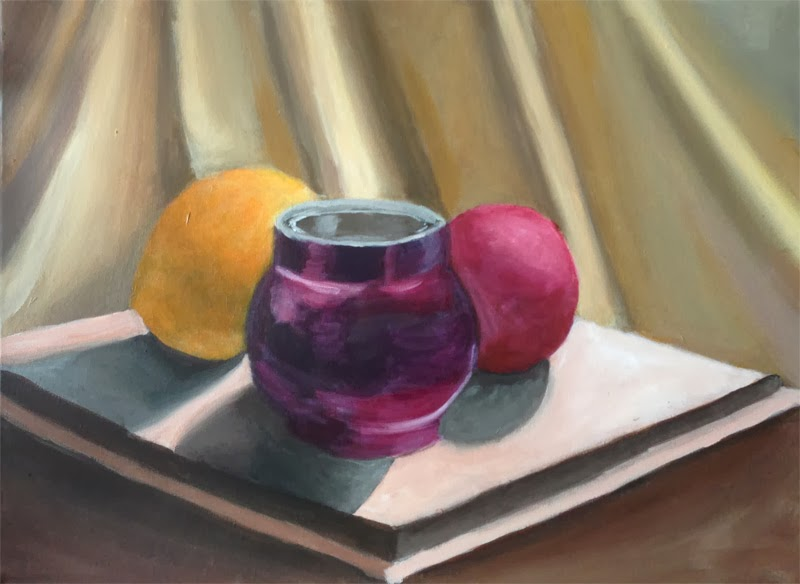 My acrylic still life, finished
