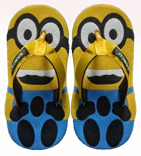 Motif Sandal Sancu Minion