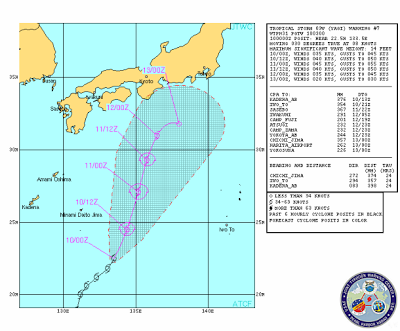 Pronóstico trayectoria Tormenta Tropical Yagi, 10 de Junio 2013