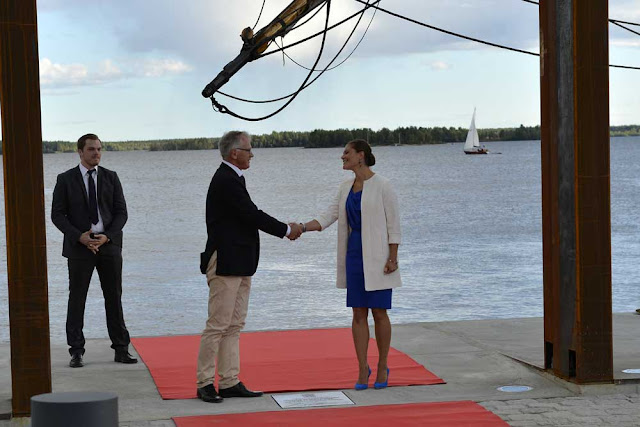Crown Princess Victoria inaugurated the 'Södra hamnplanen' dock