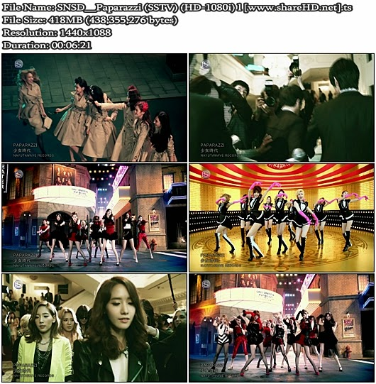 Download PV SNSD (Girls' Generation / 少女時代) - Paparazzi (SSTV Full HD 1080i)