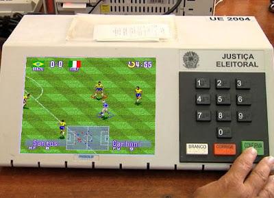 Ronaldinho Soccer 96 na Urna Eletrônica