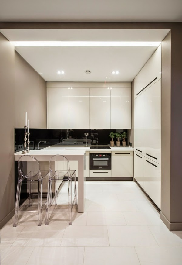 15 white small kitchen designs and decorating ideas for Little kitchen design