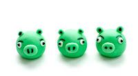 Pigs Angry birds iz tičino mase - Angry birds fondant