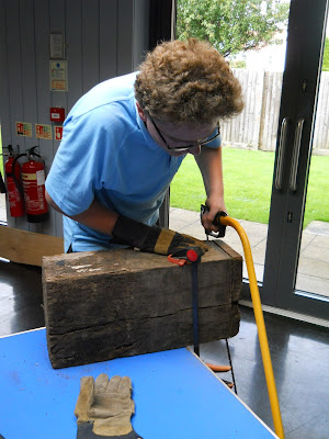 using a bow saw