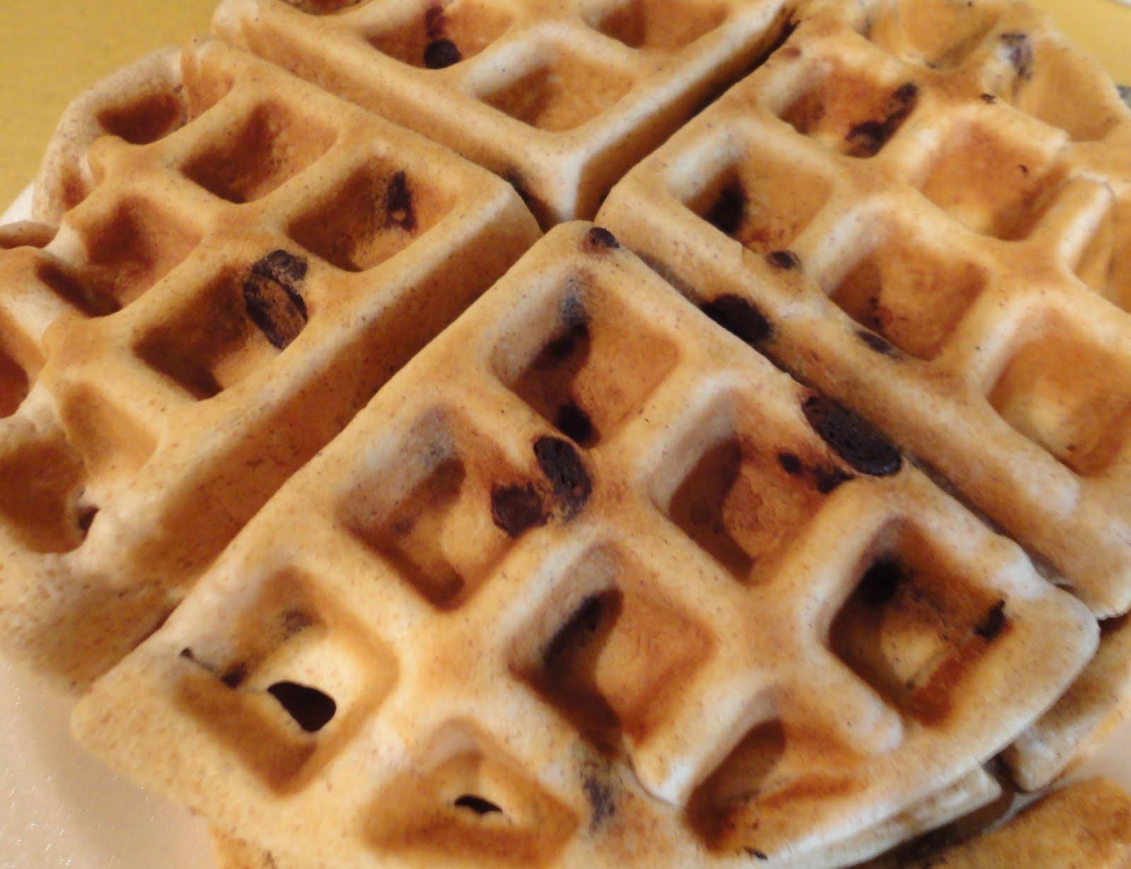 Waiting to Rise: Waffle Wednesday: Chocolate Chip Waffles ...
