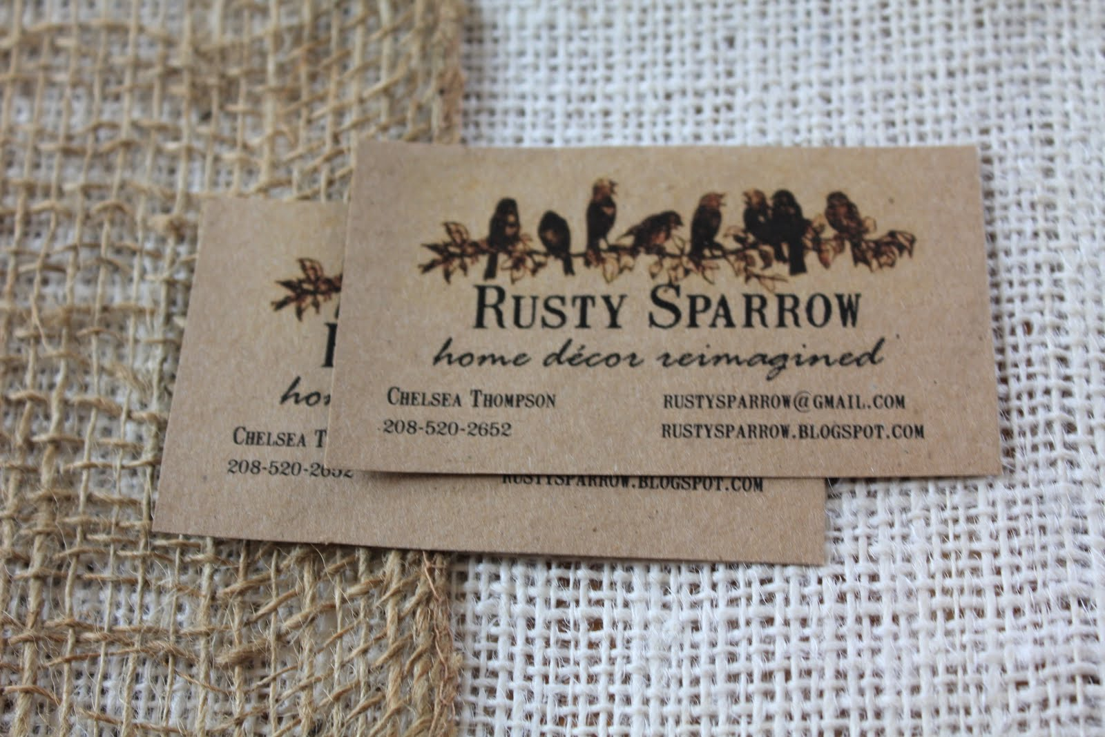 Rusty Sparrow: Easter Table and Business Cards