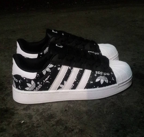 3f5c356c8bc4 Great Sale Black And White Adidas Superstars Cool Design