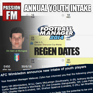 Football Manager 2014 Regen Dates