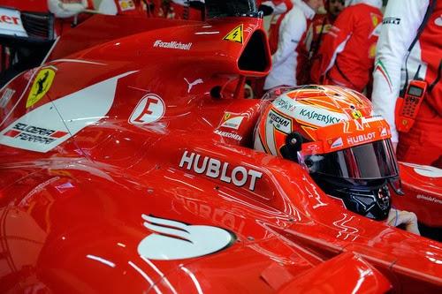 Kimi Raikonen en los test de Jerez 2014