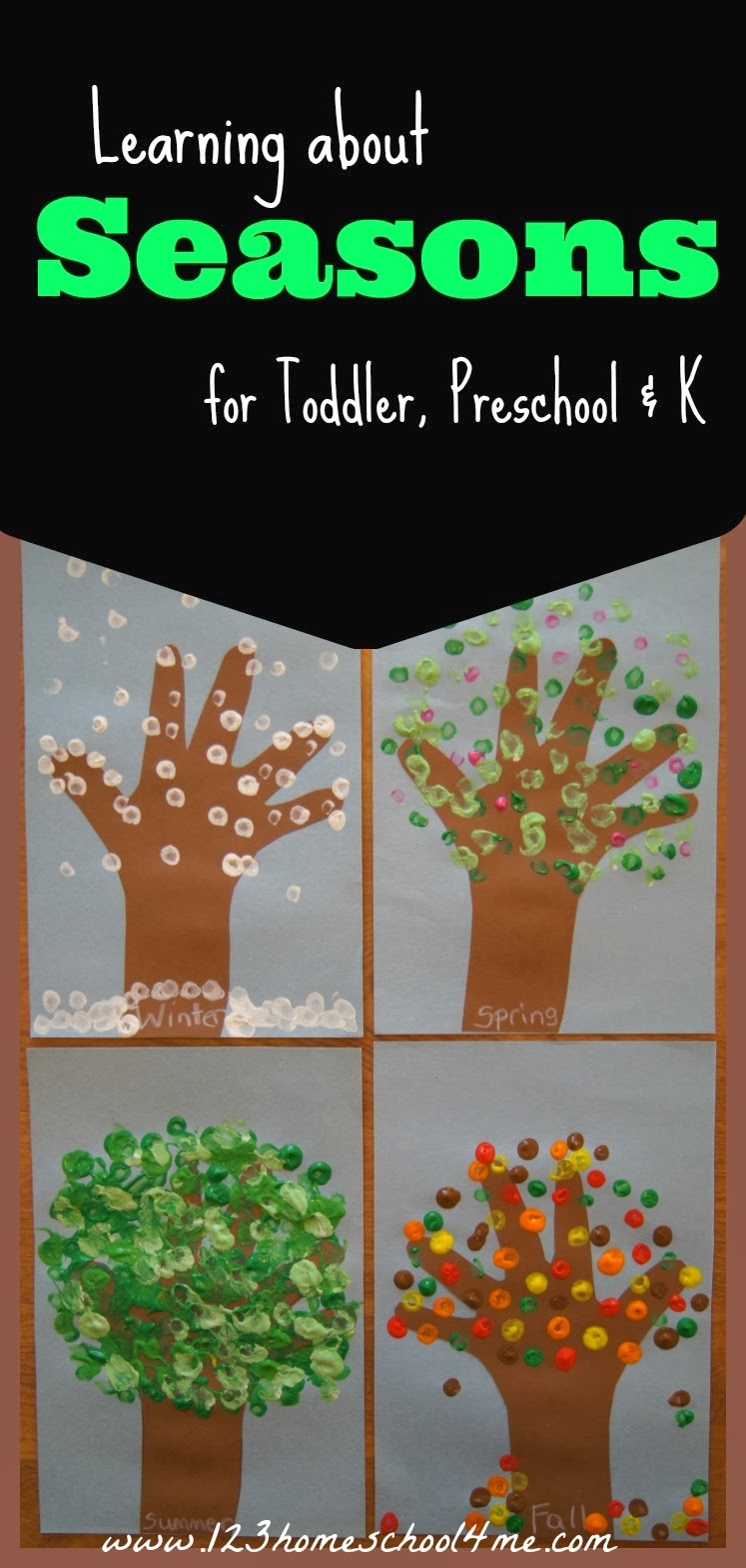 Preschool Science - Learning about Seasons Week