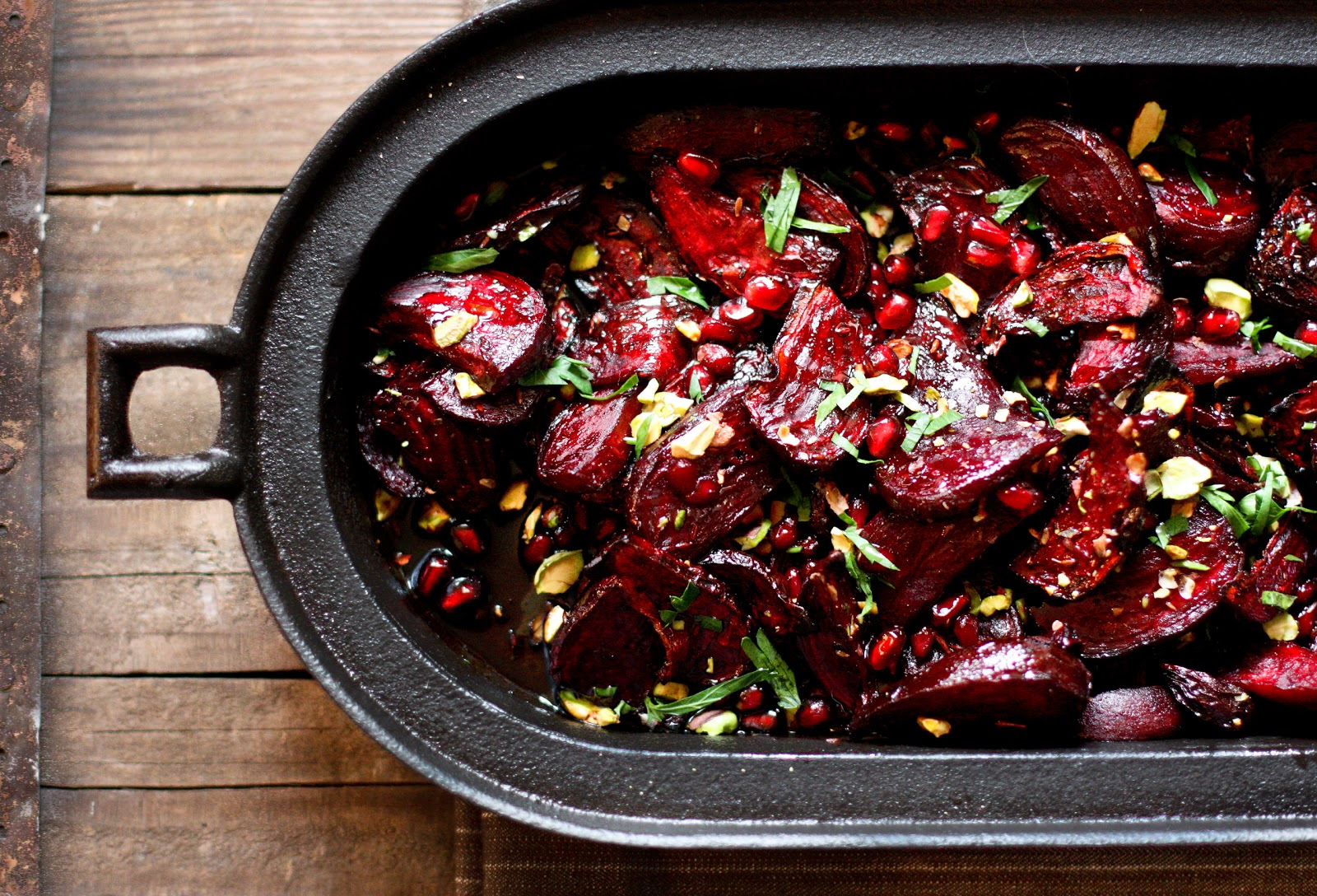 Moroccan Roasted Beets with Pomegranate Seeds - Feasting At Home