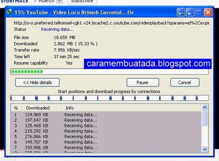 Dowload video dengan IDM