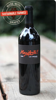 Photo of a bottle of Manifesto Zin