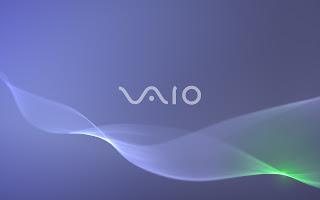 Blue VAIO Wallpaper 1366 x 768