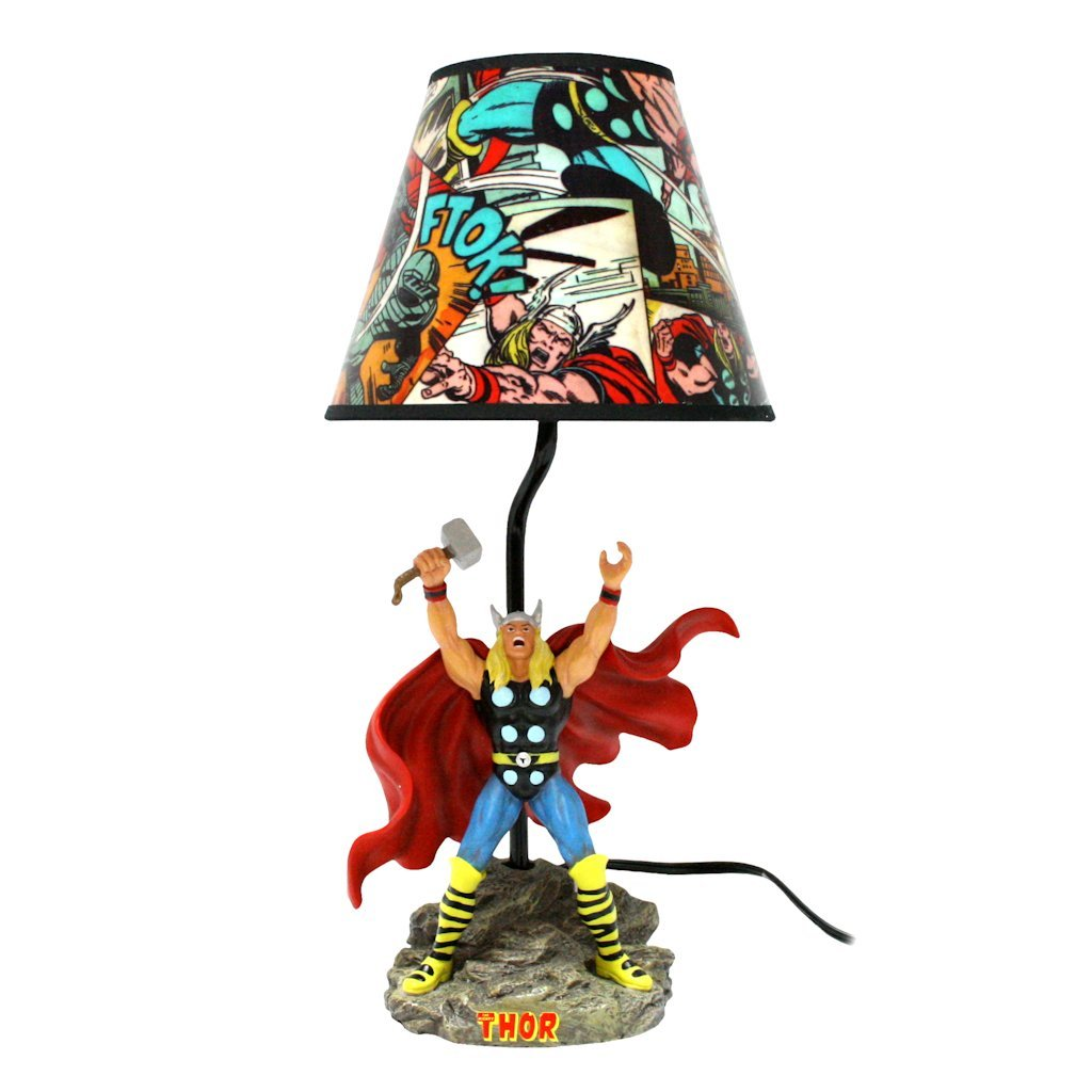 official marvel comics superhero bedroom decor thor table lamp