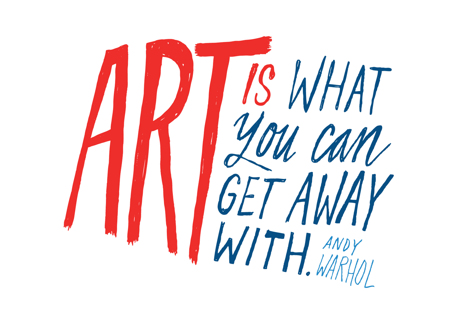 Andy Warhol Quotes Art Is What You Can Get Away With  Andy Warhol  Art Prints
