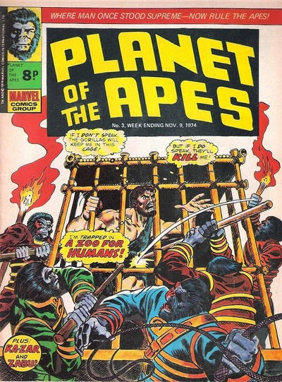 Planet of the Apes #3, Marvel UK