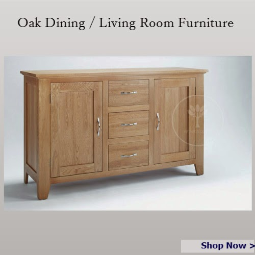 Oak Dining Room / Living Room Furniture