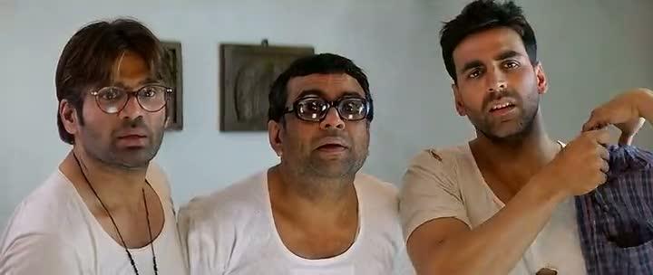 Screen Shot Of Hindi Movie Phir Hera Pheri 2000 300MB Short Size Download And Watch Online Free at worldfree4u.com