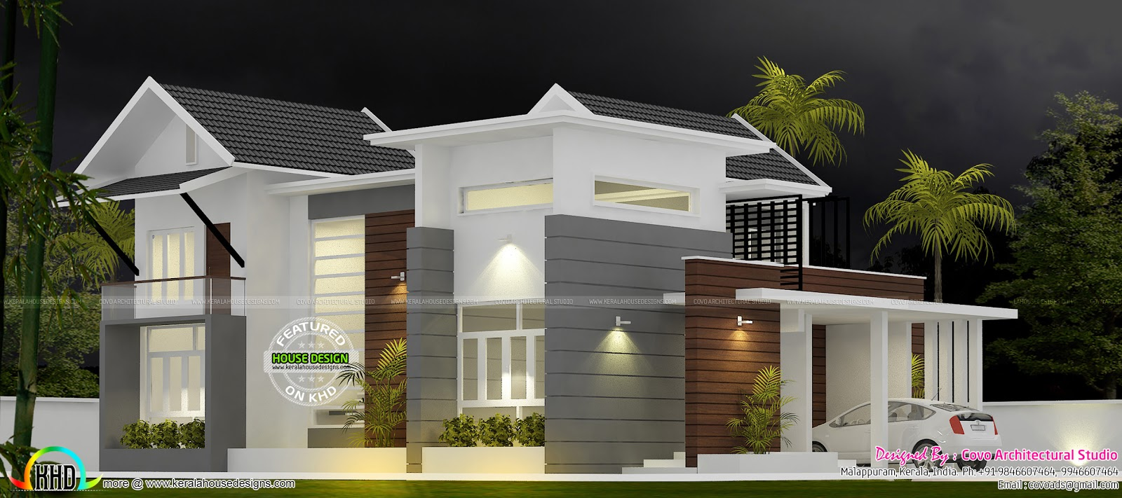 Fusion Type House Plan Kerala Home Design And Floor Plans