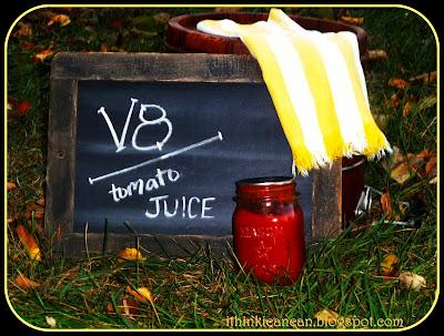 {I Think I Can} Canned V8-Tomato Juice