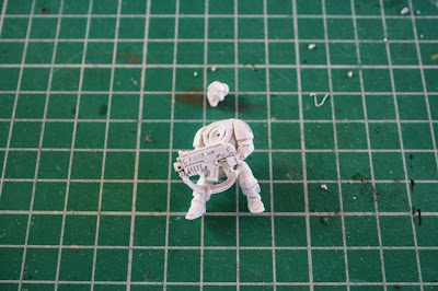 Primer explorador de los marines espaciales montado