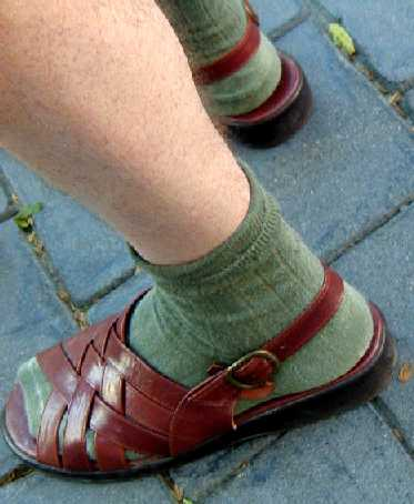socks sandals