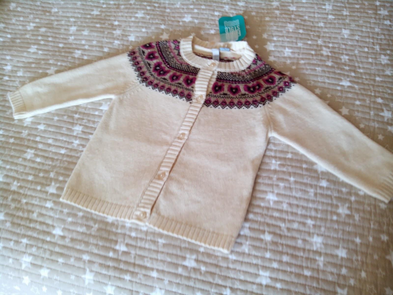 Artesanato Junino ~ Rastrillo Crema& Nata Jersey chaqueta nuevo con etiqueta