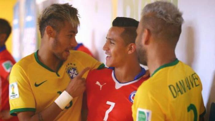 Laga Brasil Vs Chile, Jadi Reuni Neymar & Sanchez